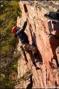 Rock Climbing Photo: Josh Knapp sending on a cold december day.   Photo...