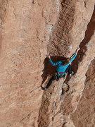Rock Climbing Photo: Anna cruising up LaCholla Jackson.