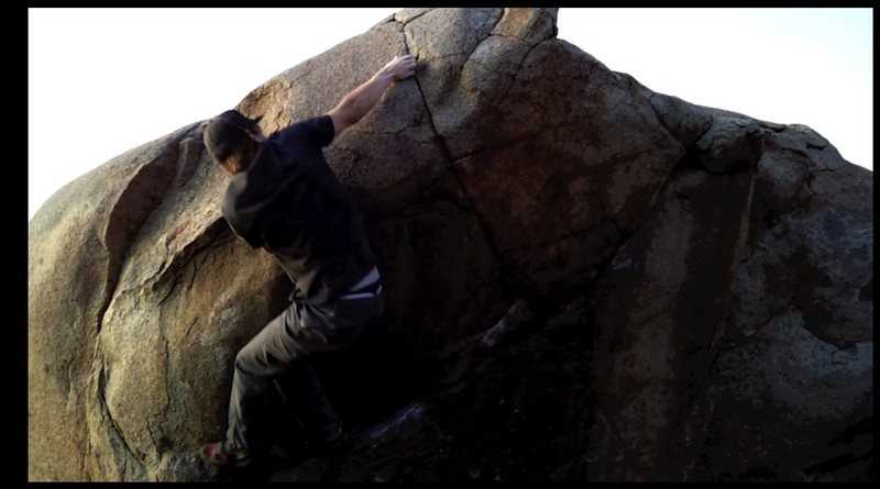 Rock Climbing Photo: Reachin' left, Mike rennick