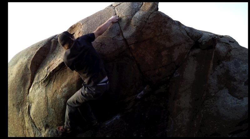Rock Climbing Photo: Reachin' left, Mike rennick