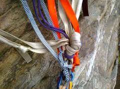 Rock Climbing Photo: This pile of rags was holding the pieces together