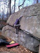 Rock Climbing Photo: Minky Mantle