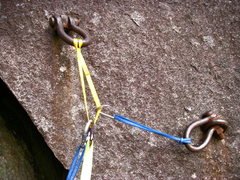 Rock Climbing Photo: GNS belay bolts at Index