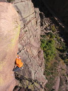 Rock Climbing Photo: Taylor Roy on WIngless Victory.  Photo by Justen S...