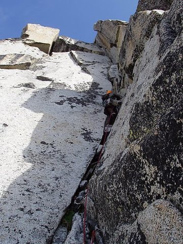 Rock Climbing Photo: Cruising the last pitch.
