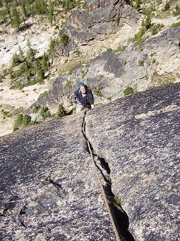 Rock Climbing Photo: Awesome 5.10 pitch!