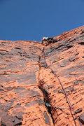 Rock Climbing Photo: Crack on pitch 1.