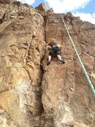 Rock Climbing Photo: The lead is an interesting 5.9 with some stretchy ...