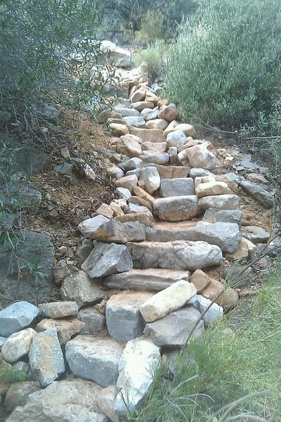Rock Climbing Photo: the steps up to slate