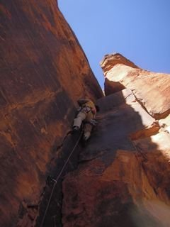 Rock Climbing Photo: Tim enjoying a warmup in the shade in December!