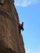 Rock Climbing Photo: Me on the first pitch.  Photo by Doug C.