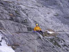 Rock Climbing Photo: 29-December-2011: Steve Larson at the rap station ...