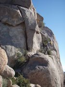 Rock Climbing Photo: Start of 'West Corner'. Follow the ramp of vegetat...