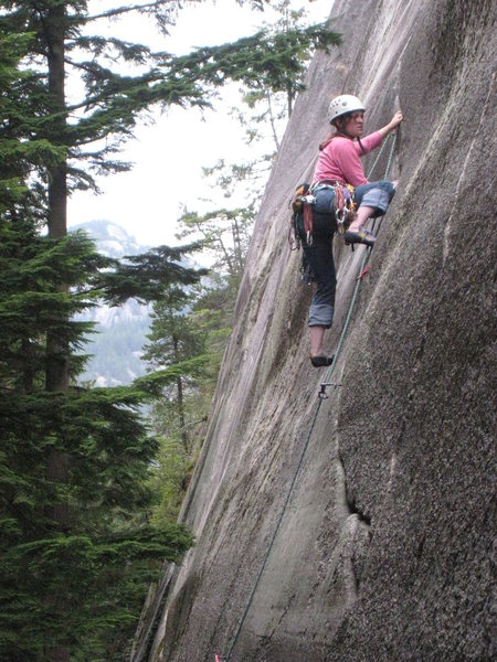 First pitch of Hairpin (Squamish)