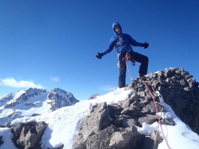 Rock Climbing Photo: Winter ascent 12/30/11.... A lot of work...and of ...