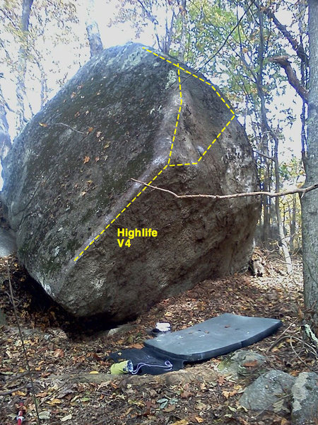 Rock Climbing Photo: High life v4