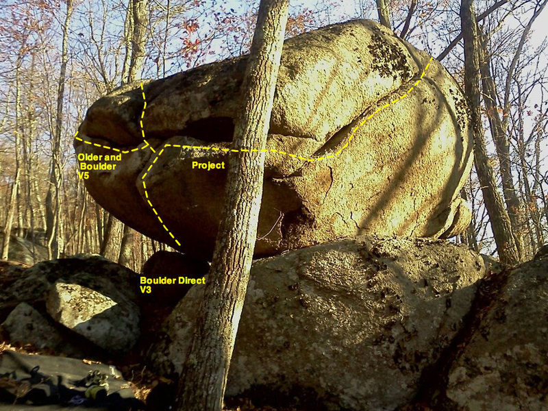 Bouldergasm is marked as 'project' in this photo