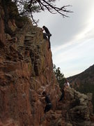 Rock Climbing Photo: The topout.