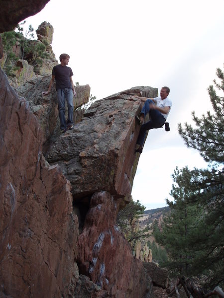 Rock Climbing Photo: Finishing up.