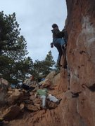 Rock Climbing Photo: Straight up the center  with hecklers instead of s...