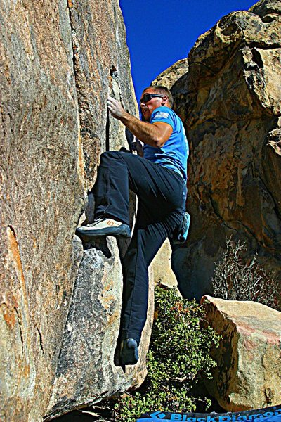 Rock Climbing Photo: Classic Thin Crack, Joshua Tree