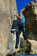 Rock Climbing Photo: Classic Thin Crack, Joshua Tree