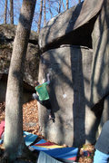 Rock Climbing Photo: Q sending Herr Left