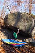 Rock Climbing Photo: Rocky Woodling starting C's Problem