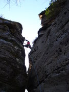 "Rock Climbing Photo: Top of the ""Eye of the Needle"" 5-7 Sport..."