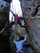 "Rock Climbing Photo: ""Eye of the Needle"" start"