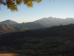 Rock Climbing Photo: The view from Batman and Robin at Lumpy Ridge.  I ...