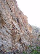 Rock Climbing Photo: Way up high in Clear Creek Canyon