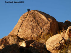 Rock Climbing Photo: The Chick Magnet (5.9), Joshua Tree NP