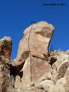 Rock Climbing Photo: Alien Head (5.10a), Joshua Tree NP