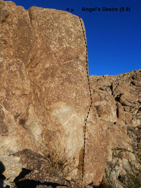 Rock Climbing Photo: Angel's Desire (5.9), Joshua Tree NP