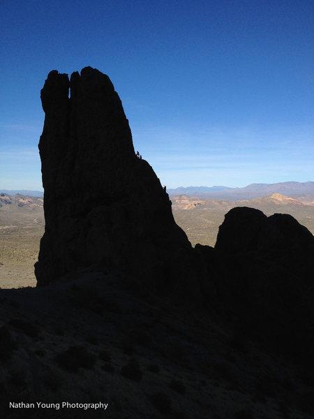 Rock Climbing Photo: silhouette