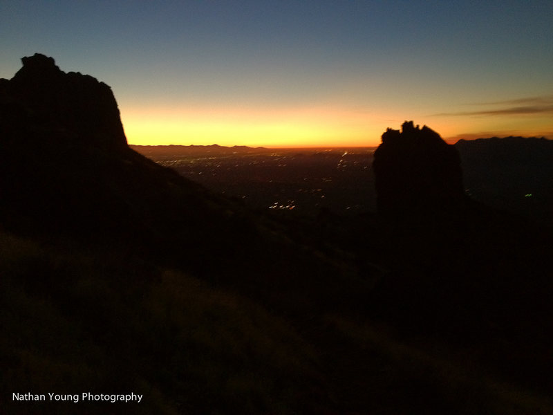 Rock Climbing Photo: Sunset on the superstitions