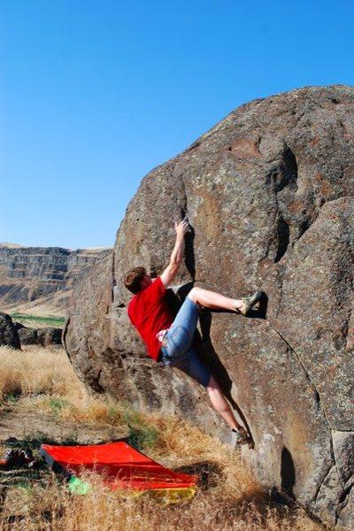 Rock Climbing Photo: Bouldering at Swan Falls, Idaho