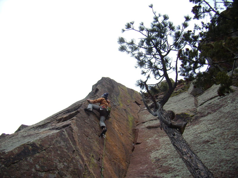 Jordon Griffler on Pony Express 5.11 c -   Eldorado Springs,CO . Dec 30th 2011