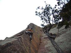 Rock Climbing Photo: Jordon Griffler on Pony Express 5.11 c -   Eldorad...