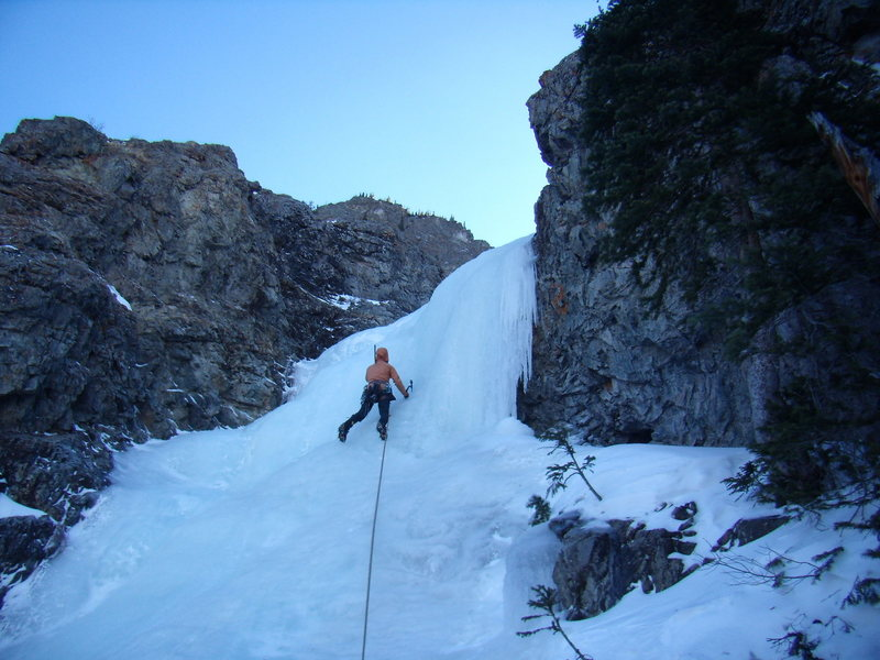 Jordon Griffler on Three Tiers.  Ten Mile Canyon.  Colorado. New Years Day 2012.