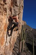 Rock Climbing Photo: Ed gets an early start on Jiffy Pop (5.10)