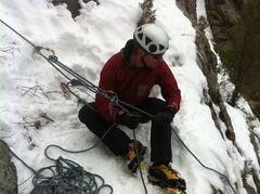 Rock Climbing Photo: AMP set up to lower last Friday.