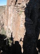 Rock Climbing Photo: last pitch step across