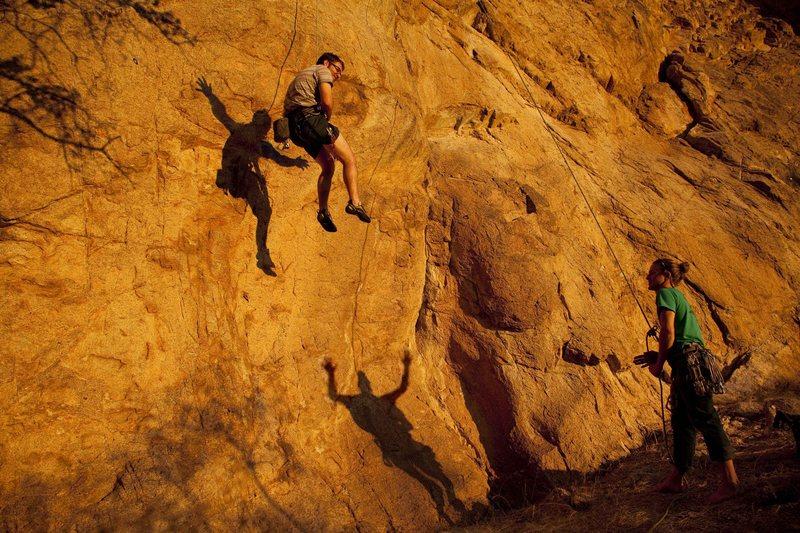 Rock Climbing Photo: Mischievous shadows of Cracker Jack