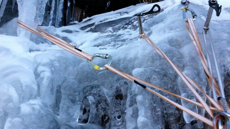 Rock Climbing Photo: Terrible anchor