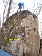Rock Climbing Photo: basic bastion. Forward failure is the C crack seen...