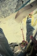 Rock Climbing Photo: Looking down the route the next day and yes, that'...