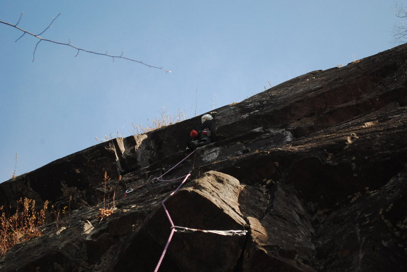 Rock Climbing Photo: Heading up the route.