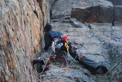Rock Climbing Photo: Leading.